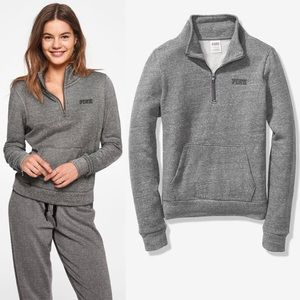 VS PINK EVERYDAY LOUNGE PERFECT QUARTER-ZIP LARGE
